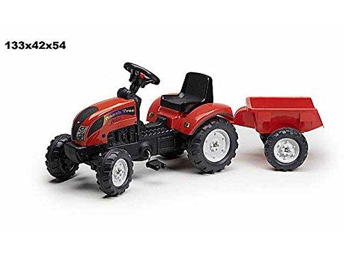 LIBERAONLINE Traktor mit Pedalen 133x 42x 54cm Spiel Spielzeug Geschenk # AG17 - Baby-pedal-traktor