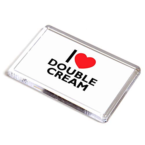Unbekannt Kühlschrankmagnet, Aufschrift I Love Double Creme