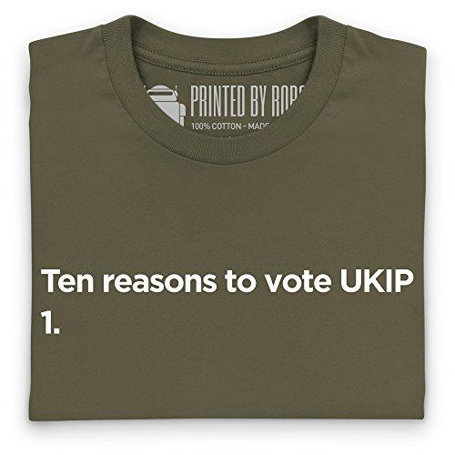 Vote UKIP T-Shirt, Herren Olivgrn