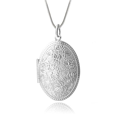 verziertes-medaillon-amulett-silber-foto-bild-halskette-kette-anhanger
