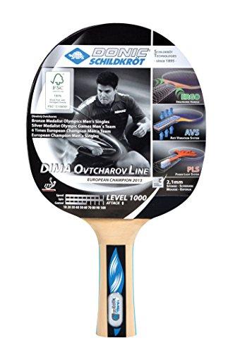 Donic-Schildkröt Tischtennis Schläger Dima OVTCHAROV 1000 FSC, Holz/Natur, One Size, 754411