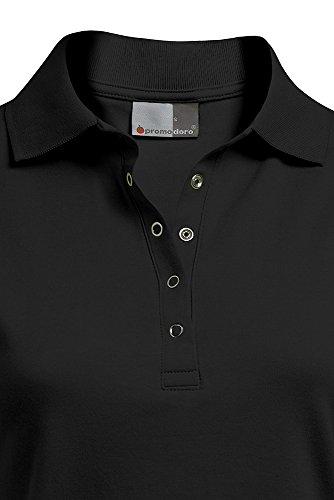 Poloshirt Jersey Damen Schwarz