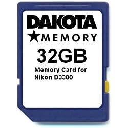 32GB Memory Card for Nikon D3300