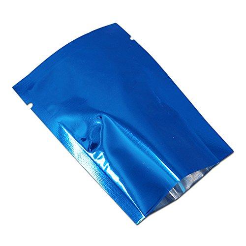 WACCOMT Pack (3.1x4.7 Zoll) Blau Color Alufolie Verpackung Taschen Kaffee Süßigkeiten Tee Lebensmittel Mylar Heißsiegel Beutel Mit Reißen Sample Proben Food Geruchssicher Taschen Großhandel