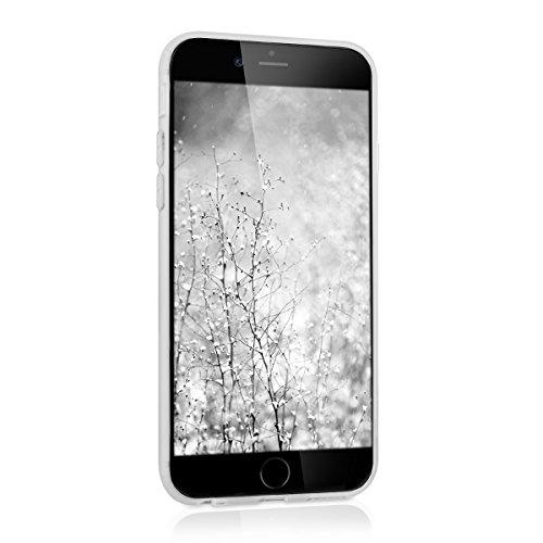 kwmobile Étui rigide coque de protection pour Apple iPhone 6 / 6S avec verso en aluminium et cadre bumper en silicone TPU - étui cover coque en or rose .argenté