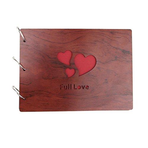 Classic personalizzata fatto a mano fai da te foto album creativo ed elegante Album portafoto Idea regalo per matrimonio, Baby anniversario felice memoria, Full Love, 27x19.5cm