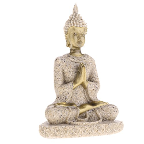B Blesiya Glückliche Buddha Deko Figur Feng Shui Skulptur Statue Buddhismus Budda Glücksbringer
