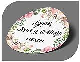 CrisPhy - Adesivi Personalizzati per Matrimonio con Nome e Data, per invito, Matrimonio, Battesimo, Fidanzamento, Compleanno, Festa, Natale, Vintage, timbri