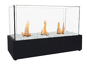 Bioethanol Fireplace with Triple Burners NYMPHA PLUS Purline