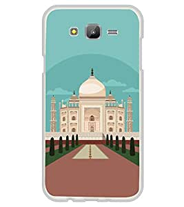 Fiobs Designer Back Case Cover for Samsung On5 (2016) New Edition For 2017 :: Samsung Galaxy On 5 (2017) (Tajmahal Art Symbol Agra)