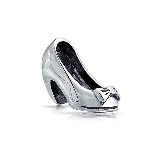 truecharms placcato argento ragazza tacco alto scarpe Charm per braccialetti Pandora Jewelry
