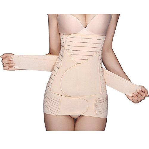 Exlura 3-in-1 Postpartum Stütze und Halt nach der Geburt - Rückbildung Bauch/Taille/Becken Gürtel Shapewear Figurformende Wäsche Taillengürtel