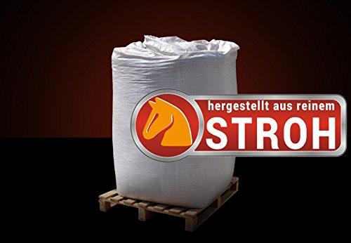 Naturbrennstoffe Kretschmann OHG ▶ Big Bag Strohpellets ALS Einstreu für Pferde 0,34€/kg, 1000kg im BigBag auf Palette, kostenfreie Lieferung, ohne Bindemittel hergestellt, Stroh-Pellets