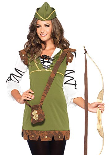 Schuhe Kostüm Robin - Leg Avenue 85366 - Klassische Robin Hood Damen kostüm , Größe M/L (EUR 38-40) Damen Karneval Kostüm Fasching