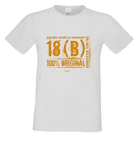 Herren-Geburtstag-Sprüche-Motiv-Fun-T-Shirt Original seit 20 Jahren Geschenk zum 20. Geburtstag oder Weihnachts-Geschenk auch Übergrößen 3XL 4XL 5XL in vielen Farben grau-08