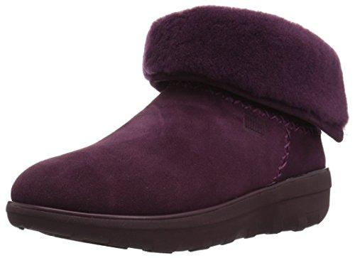 Fitflop Mukluk Boots (FitFlop, Damen Stiefel & Stiefeletten Schwarz One Size, Violett - Deep Plum - Größe: 40)