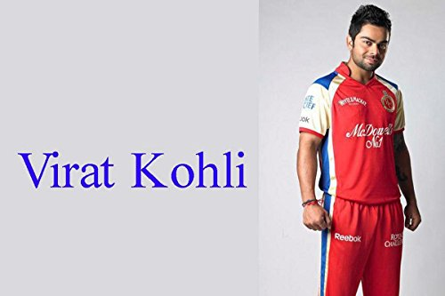 MNTC Paper Poster Virat Kohli RCB (31 cm x 46 cm x 31 cm, Red)  available at amazon for Rs.190