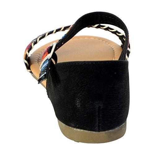 Sandale Plate The Divine Factory JD2852 Noir Noir
