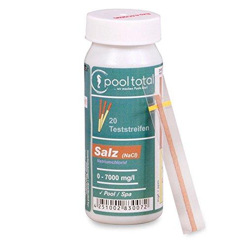 Teststreifen Salz (NaCl) 0-7000 mg/l (20 TestStrips)