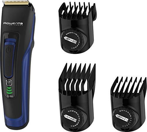 Rowenta Advancer Negro, Azul Recargable - Afeitadora (Negro, Azul, 0,5 mm, 3 cm, Acero inoxidable, 120 min, Batería integrada)
