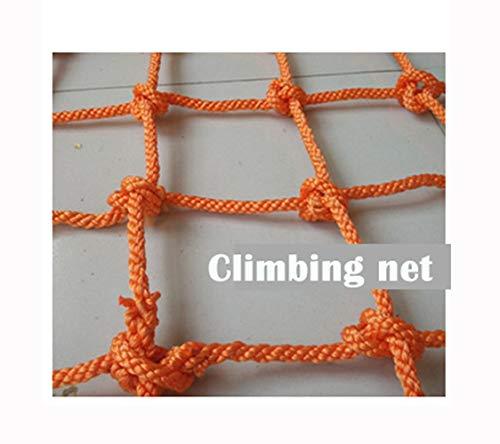 Wlh Seilnetz Schutznetz, Spielplatz Gartentunnel Trampolin Treppe Balkon Sicherheitsnetz Kletternetz (Größe: Seil 12 Mm, Loch 8 cm) (Farbe: Orange) (Size : 2 * 4m)