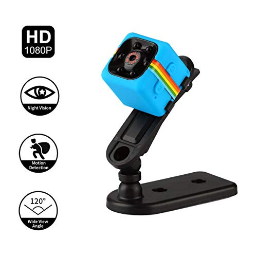 Adaym Leichte Mini Kamera, SQ11 HD 1080P Camcorder Sport Mini DV Video Recorder Spion Kameras mit Nachtsicht (Blau) - Cam Xbox Vision