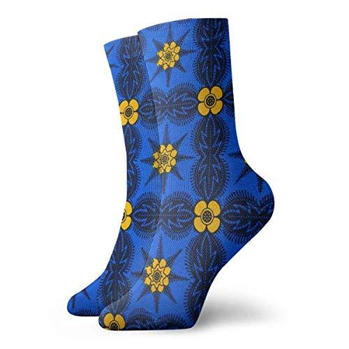 best pillow African Print Ankara Pattern Colorful Crazy Crew Socks Comfortable Novelty Socks 11.8 inch