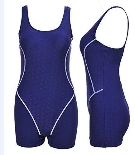 Costume Da Bagno Di Squalo Professionale / Formazione Corsa Movimento Conservatore Boxer Nero Costume Intero Pezzo Delle Donne , Deep Blue , L,deep blue,l