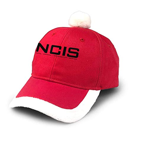 GGdjst Weihnachtsmützen, NCIS Team Christmas Hats Red Santa Baseball Cap for Kids Adult Families Celebrate New Year Party