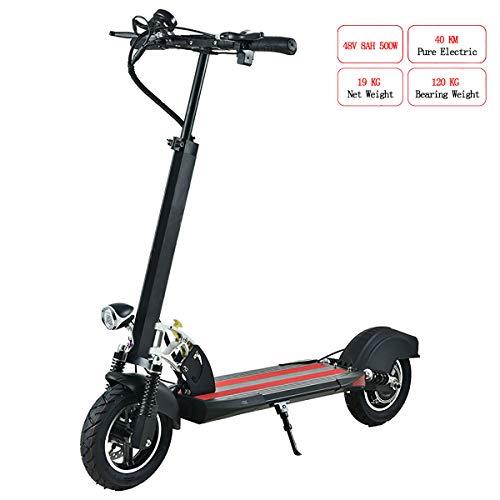 W&TT Elektroroller für Erwachsene, faltbar, 120 kg, maximale Zuladung 10 Zoll 45 km/h, tragbares Mini-E-Bike mit LED-Licht und HD-Display, 120 km Reichweite,B,48V8A500W40KM