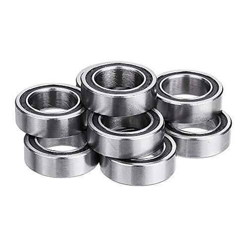 ChaRLes Machifit 10Cs 6700-2Rs 10X15X4Mm 10X16X5Mm Miniature Double Rubber Seal Deep Groove Ball Bearing - 16mm -