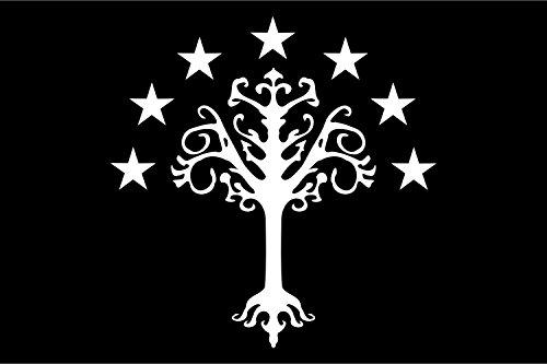 magFlags Bandiera XL Gondor | Gondor s Flag from J. R. R. Tolkien s Middle-Earth | Gondor, Reino de la Tierra Media de J | Bandiera Paesaggio | 2.16m² | 120x180cm