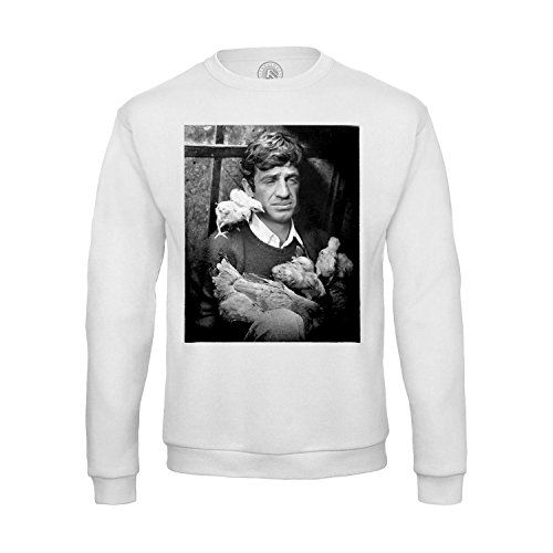 Fabulous 300 Men Sweatshirt Jean Paul Belmondo cociara The Two Women Black and White Film