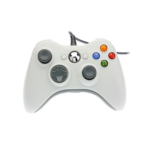 OSTENT Wired USB Controlador Gamepad Joystick Joypad Compatible para Microsoft Xbox 360 Consola Windows PC Ordenador Portátil Computadora Videojuegos Color Blanco