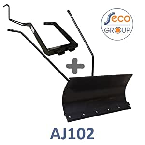 Lame à Neige 118 cm Noire + adaptateur pour SECO-AGS AJ102