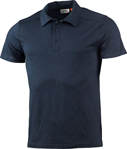 Lundhags Merino Light Polo Tee Men Größe XL deep Blue - Polo-tee