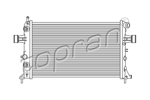 Preisvergleich Produktbild TOPRAN Kühler für Motorkühlung,  206 972