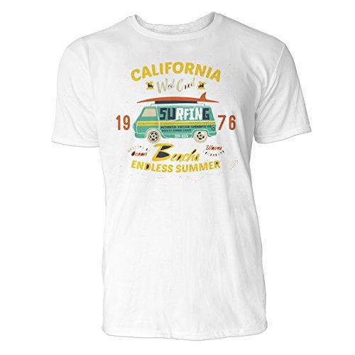 Herren T Shirt California West Coast (Weiss) Freizeit/Sport / Club T-Shirt Crew Neck NOOS Original -