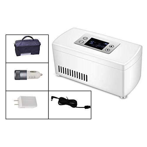 YPBX Mini Refrigerador, Refrigerador De Insulina para Coche, Caja PortáTil para Nevera...