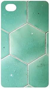 Green Tiles Pattern Black Flip Case for Apple iPhone 4 / 4S