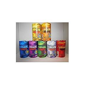 Lot 7 Pot Fumigene MECHE 1min Catégorie F1 - 7 Coloris - Fete Evenement - 321