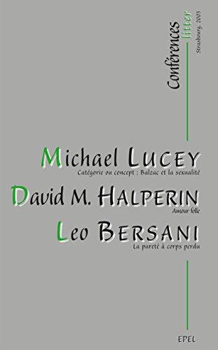 Conférences Litter: Strasbourg, 2003 (ESSAIS) par David M. HALPERIN