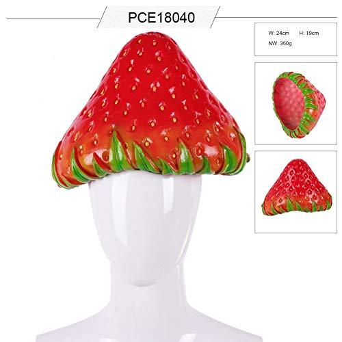 Erdbeere Kostüm Kopfbedeckung - Iswell Party Cosplay Kostüm PVC Simulation