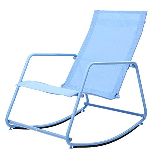 YLLXX Adultes Déjeuner Intérieur Pause Moderne Minimaliste Paresseux Inclinable Balcon Fauteuil Simple Salon Sieste Chaise Berçante À Bascule Nordique (55 * 80 * 78Cm)