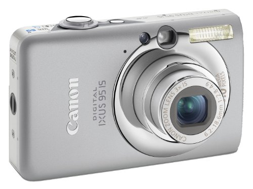 Canon Digital IXUS 95 IS Digitalkamera (10 Megapixel, 3-fach opt. Zoom, 6,4 cm (2,5 Zoll) Display, Bildstabilisator) Silver