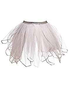 DREAMY DRESS-UPS 50436Falda de Ballet, Color Blanco