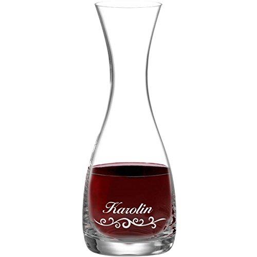 polar-effekt Leonardo Wein-Karaffe 800 ml inkl. Motiv-Gravur Dekanter aus Glas mit Personalisierung