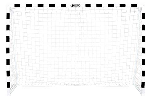 BestSporting Unisex Jugend 300-schwarz/weiß Fußballtor, Schwarz/Weiß, One Size