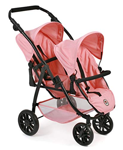 Bayer Chic 2000 689 14 - Tandem-Buggy Vario, Zwillings-Puppenwagen, Melange Apricot