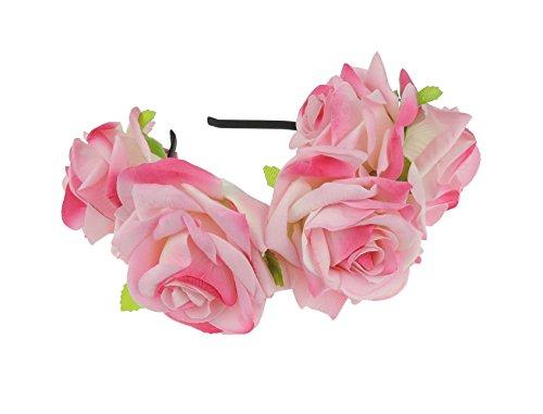 Superbe Mesdames Grand Luxe Rose Demoiselle d'Honneur Boho festival Bandeau Alice bande